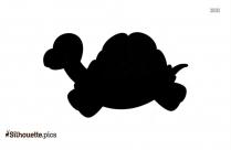 Cartoon Tortoise Running Silhouette