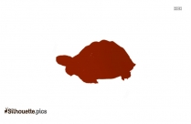 Green Sea Turtle Silhouette In White Background