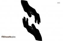 Cartoon Praying Hands Silhouette