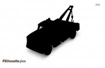 Cartoon Tow Truck Silhouette