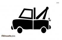 Tow Truck Wrecker Vehicle Silhouette