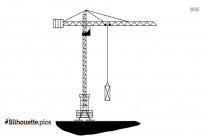 Free Construction Crane Silhouette