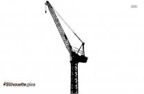 Flying Crane Bird Silhouette Image