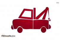 Cartoon Tow Truck Silhouette Image