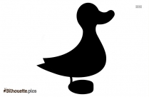 Toy Duck Icon Silhouette Icon