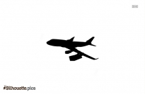 Boeing 787 Airplane Silhouette Background