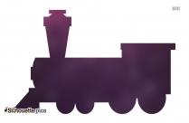 Toy Train Engine Illustration Silhouette