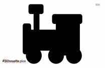 Cartoon Train Engine Silhouette Illustration