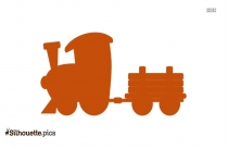 Steam Engine Trains Silhouette Image