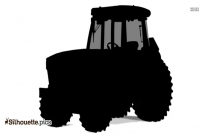 Tractor PNG Silhouette Vector