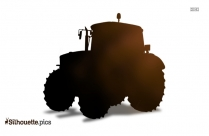 Tractor Vector Silhouette Image