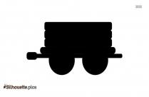 Bullock Cart Icon Silhouette