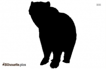 Bear As Witch Halloween Silhouette
