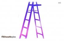 Vector Ladder Silhouette