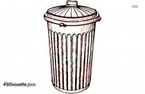 Trash Can Clip Art Free Vector