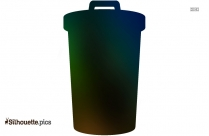 Trash Can ClipArt Silhouette