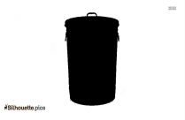 Garbage Junk Pile vector image silhouette