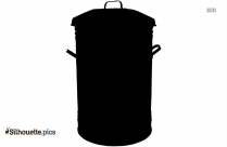 Trash Can Silhouette Icon Png