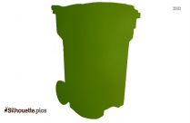Trash Toter Silhouette Vector And Graphics