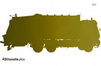 Trash Truck Silhouette Icon