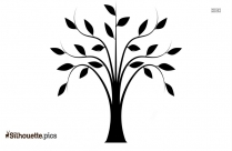 Summer Tree Silhouette Drawing