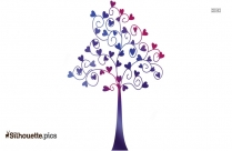 Tree Branch Heart Silhouette Image