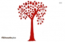 Tree Drawing Silhouette Free Vector Art Image