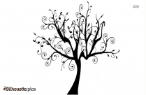 Tree Drawing Silhouette Image Download