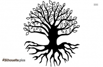Twisted Tree Roots Clipart Silhouette