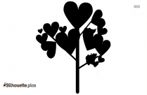 Purple Love Heart Silhouette