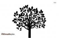 Simple Tree Root Silhouette Background