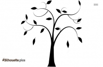 Cartoon Tree Without Leaves Silhouette