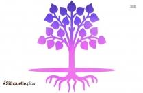 Cartoon Tree Silhouette Free Vector Art