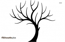 Tree Without Leaves Silhouette Background