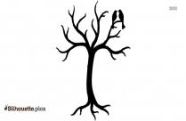 Cute Cartoon Owl Silhouette Icon