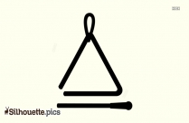 Triangle Musical Instrument Silhouette