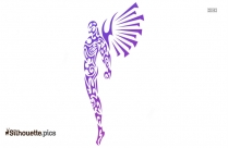 Tribal Angel Tattoo Silhouette