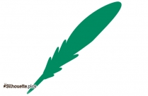 Tribal Bird Feather Silhouette Drawing