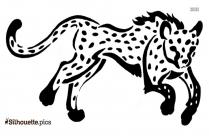 Tribal Cheetah ClipArt Silhouette