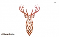 Deer Side View Drawing Silhouette Image
