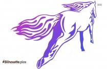 Tribal Horse Running Silhouette