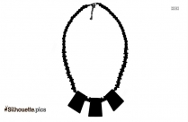 Tribal Necklace Silhouette Image