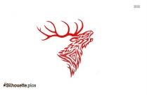 Tribal Roaring Stag Silhouette