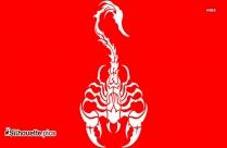 Tribal Scorpian Tattoo Silhouette