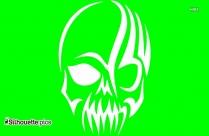 Tribal Skull Silhouette Image