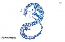 Tribal Tattoo Dragon Free Image Silhouette