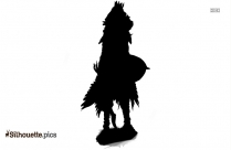 Tribal Raven Tattoo Design Silhouette