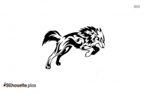 Tribal Wolf Drawing Silhouette