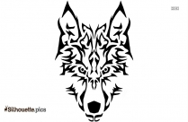 Tribal Wolf Face Silhouette