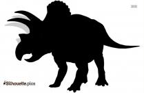 Triceratop Silhouette Illustration